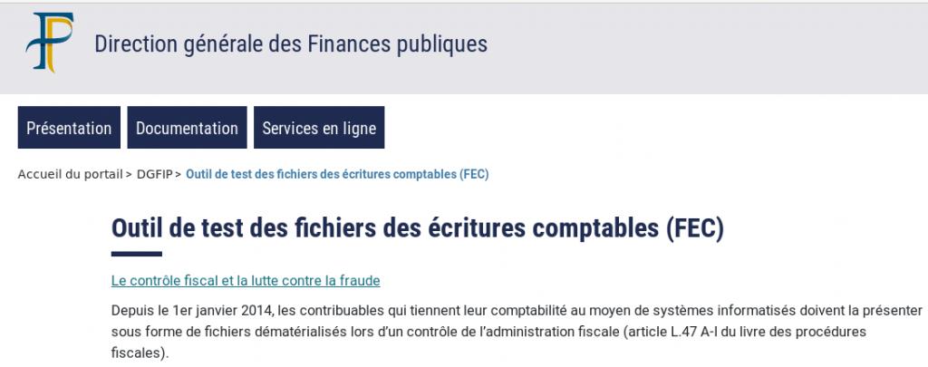 FEC controle fiscal